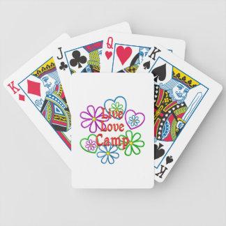 Camp vivant d'amour cartes à jouer