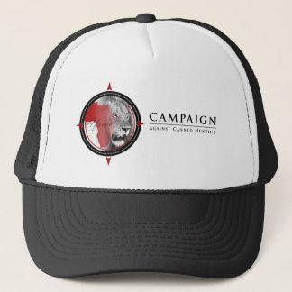 Campagne contre le casquette de chasse en boîte de