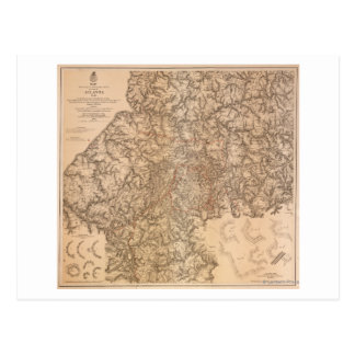 Campagne d'Atlanta - carte panoramique 3 de guerre Cartes Postales