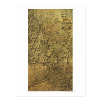 Campagne d'Atlanta - carte panoramique de guerre Carte Postale