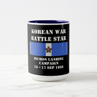 Campagne d'atterrissage d'Inchon Mug Bicolore
