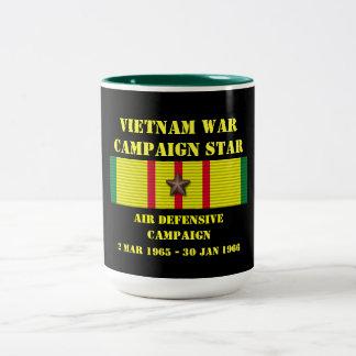 Campagne de défensive d'air mug bicolore