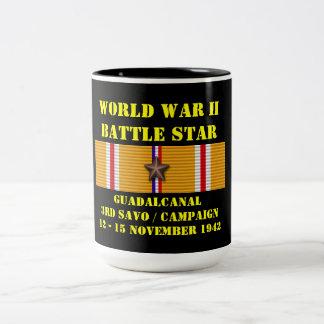 Campagne de Guadalcanal (troisième Savo) Mug Bicolore