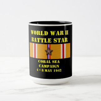 Campagne de mer de corail mug bicolore