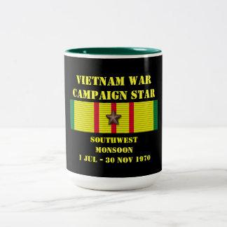 Campagne de mousson de sud-ouest mug bicolore