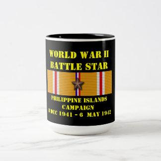 Campagne d'îles philippines mug bicolore