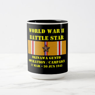 Campagne d'opération de l'Okinawa Gunto Mug Bicolore