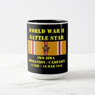 Campagne d'opération d'Iwo Jima Mug Bicolore