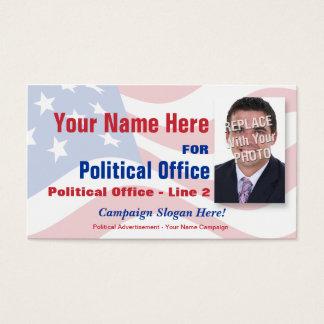 Campagne électorale politique indépendante cartes de visite