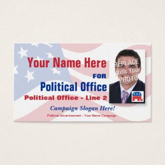 Campagne électorale politique républicaine cartes de visite