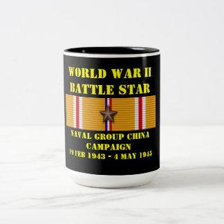 Campagne navale de la Chine de groupe Mug Bicolore