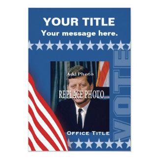 Campagne politique carton d'invitation  12,7 cm x 17,78 cm