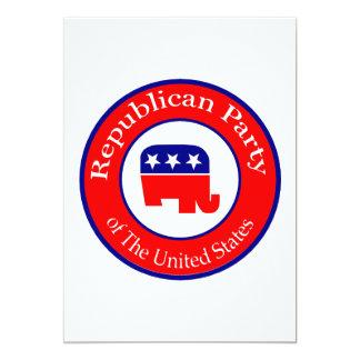 Campagne républicaine carton d'invitation  12,7 cm x 17,78 cm