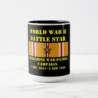 Campagne submersible de patrouille de guerre mug bicolore