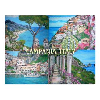 Campanie, carte postale de l'Italie