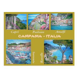 Campanie, Italie - carte postale