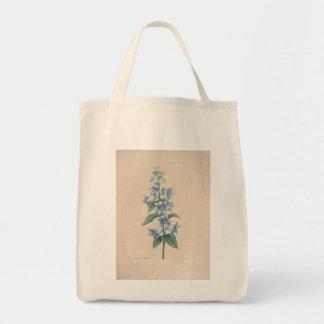 Campanula vintage par Redoute - sacs d'épicerie