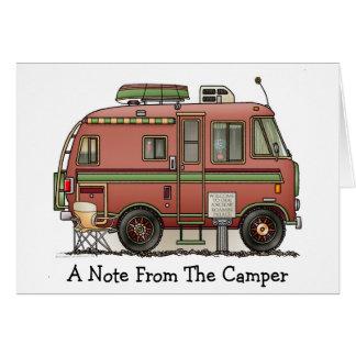 Campeur rv de camping-car de Travco Carte De Vœux