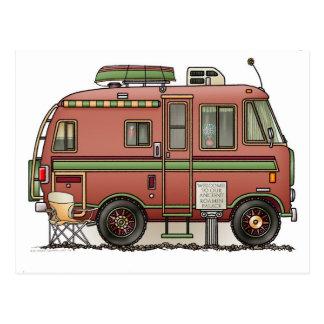 Campeur rv de camping-car de Travco Carte Postale