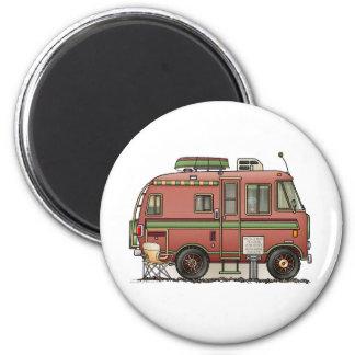 Campeur rv de camping-car de Travco Magnet Rond 8 Cm