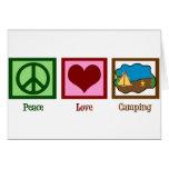 Camping d'amour de paix cartes