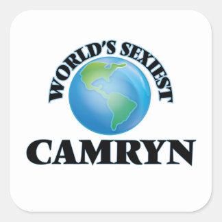 Camryn le plus sexy du monde autocollants carrés