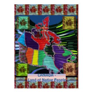 Canadien fier carte postale