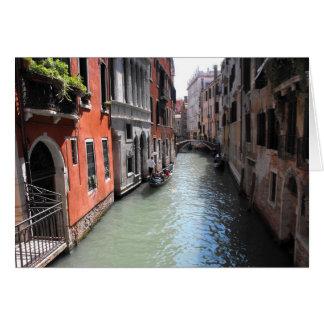 Canal à Venise en Italie Carte De Vœux