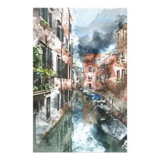 Canal de Venise Italie Papier À Lettre Customisable