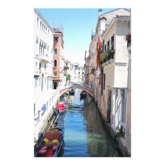 Canal de Venise Papier À Lettre Personnalisable