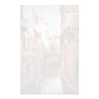Canal d'Isaac Levitan- à Venise Papier À Lettre Personnalisé