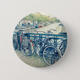 Canal et bicyclettes d'Amsterdam Badges