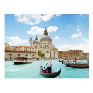 Canal grand, carte postale de Venise