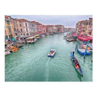Canal grand, carte postale de Venise Italie