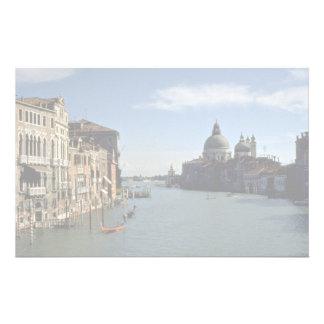 Canal grand, Venise, Italie Papier À Lettre Personnalisé