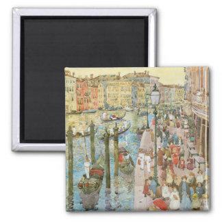 Canal grand, Venise par Maurice Prendergast Magnet Carré