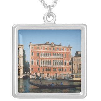 Canal grand, Venise, Vénétie, Italie Pendentif Carré