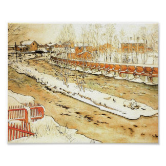 Canal pendant l hiver posters