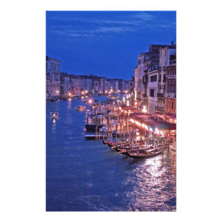 Canale grand à Venise Italie Papier À Lettre Customisé