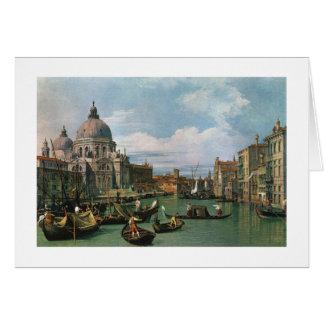 Canaletto, le canal grand et église carte de vœux