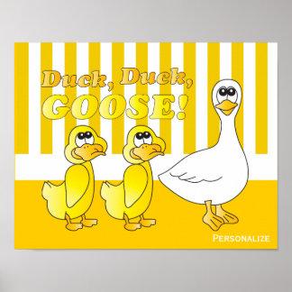 Canard, canard, thème de crèche de bébé d'oie posters