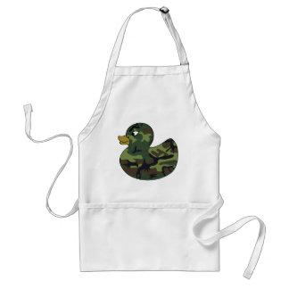 Canard en caoutchouc de camouflage tablier