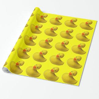 Canard en caoutchouc jaune papiers cadeaux