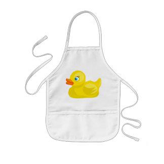 Canard en caoutchouc jaune tablier enfant