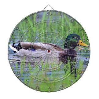 Canard masculin de canard flottant sur l'eau jeux de fléchettes