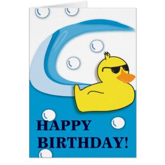 Canard savonneux - carte d'anniversaire