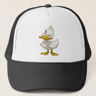 Canard sur un casquette