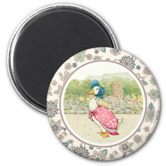 Canard vintage. Magnet de cadeau de Pâques Magnet Rond 8 Cm
