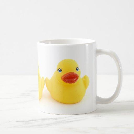 Canards en caoutchouc jaunes tasses à café