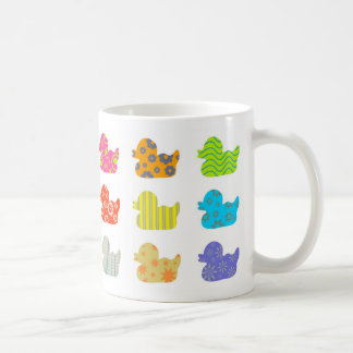 Canards modelés mug blanc